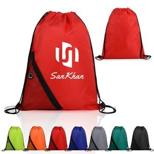 Drawstring Sports Pack With Outside Mesh Pocket